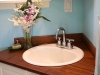 Mahogany wood sink