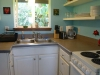 kitchen with electric stove & oven