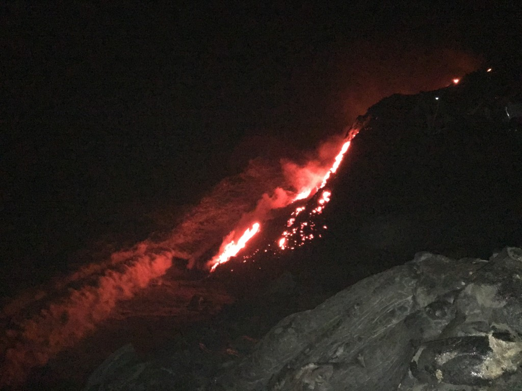 Hiking or biking to active lava flow starts just 10 minutes away!