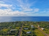 Drone view above cottage