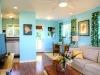 Living room, kitchen, desk